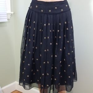Talbots Skirt - black with beads & sequins